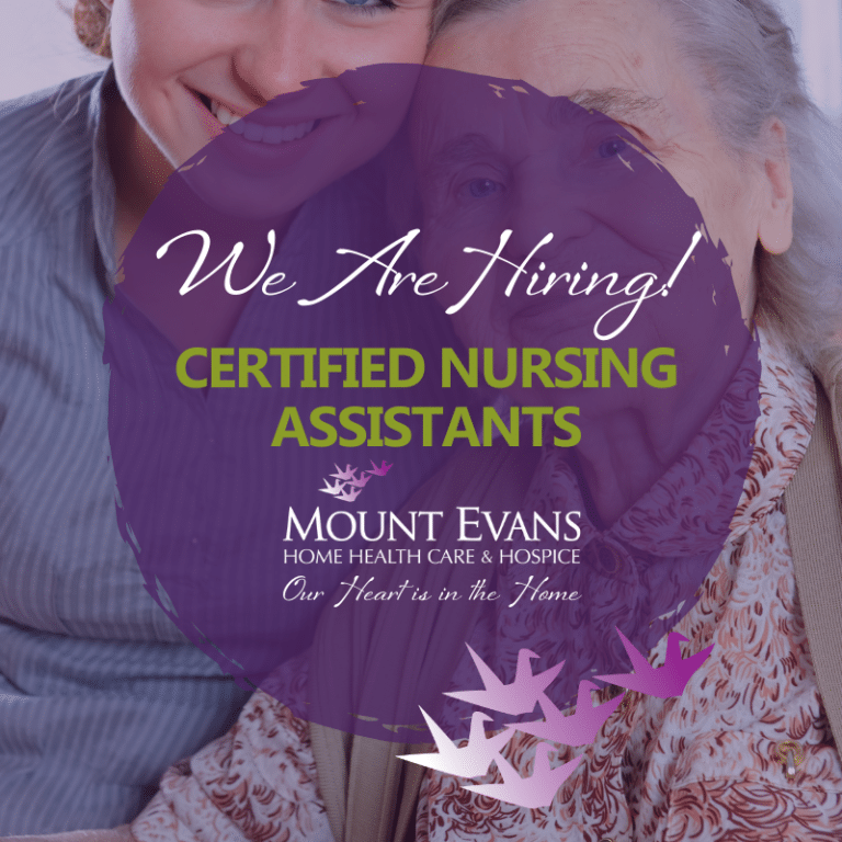 Now Hiring CNA (Certified Nursing Assistant) position