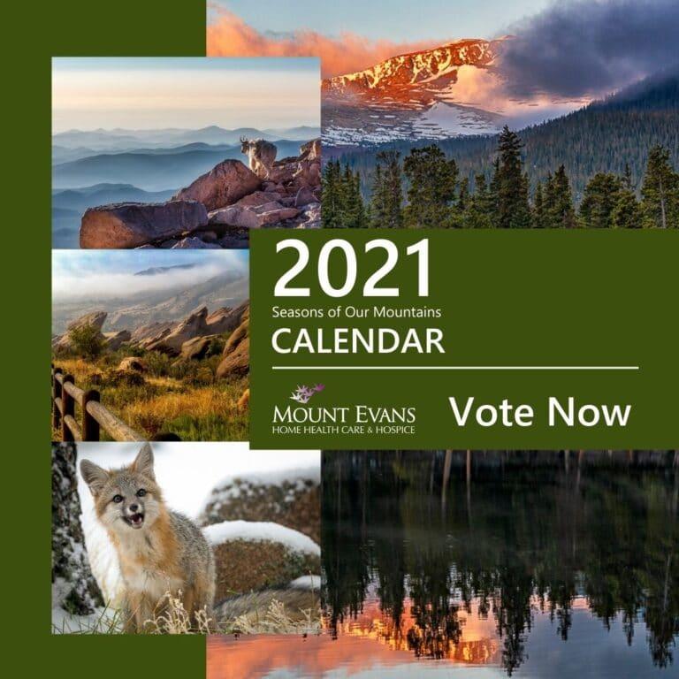 2021 Season of Our Mountains Calendar voting