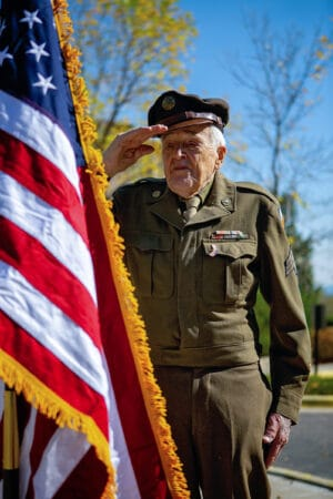 World War II Veteran George Faust Salutes