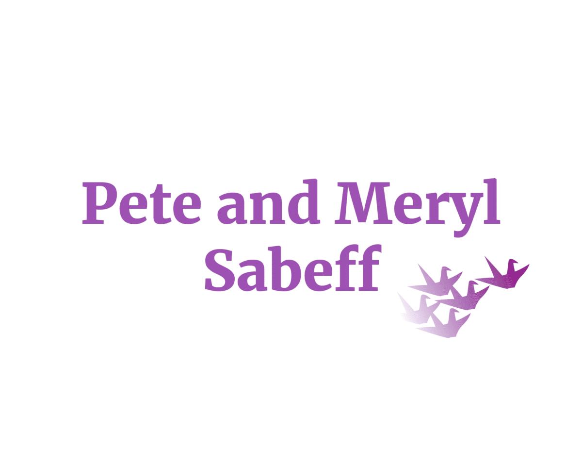 Pete and Meryl Sabeff sponsor logo