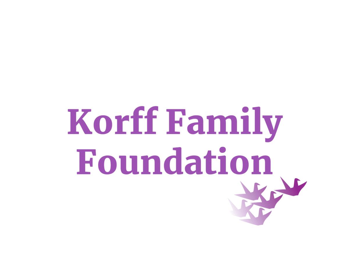 Korff Family Foundation Sponsor Logo