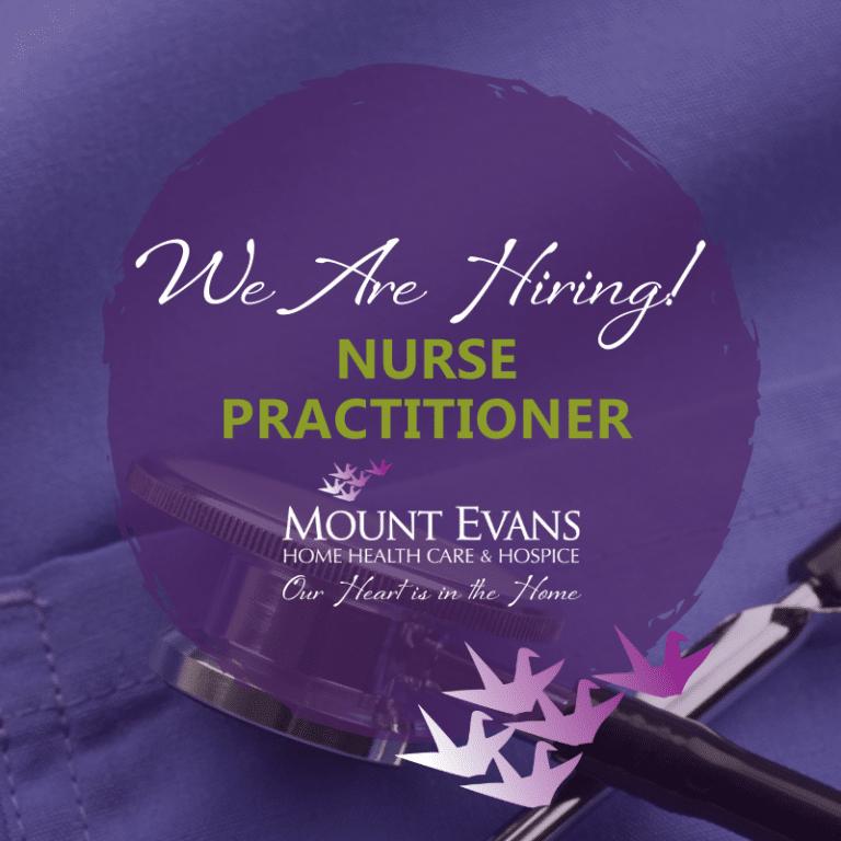 We're Hiring graphic - Nurse Practitioner