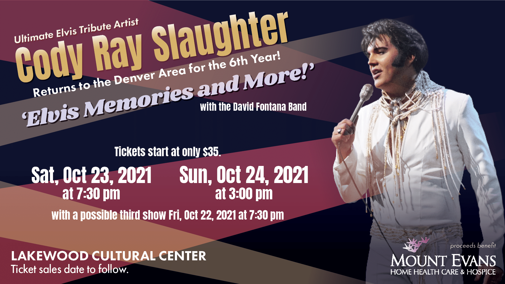 Cody Ray Slaughter: Elvis Memories and More concert graphic